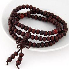 Fashion Natural Ebony Black Wood Beads Buddha Multlayer Bracelets Men- Women