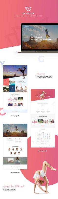 Le Lotus - Yoga Center PSD Template on Behance
