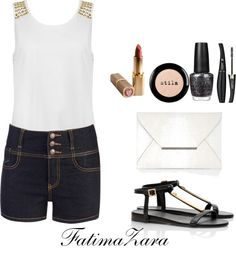 """summmer is fun"" by fatimazaramuhammad ❤ liked on Polyvore"
