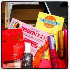 """""""Omg the @teenvogue @birchbox is awesome!!! Great picks @evachen212  2 full sized products + 3 samples + a @modcloth gift card!!!"""""""