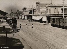 1860s View of Front Street in Old Sacramento. (California State Library)