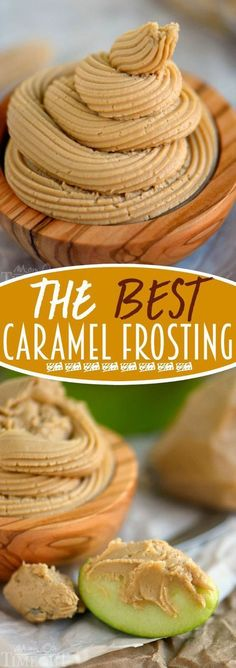 The BEST Caramel Frosting - you're going to want this on everything so go ahead and DOUBLE the recipe! Perfect for cakes cupcakes bread apples and more!
