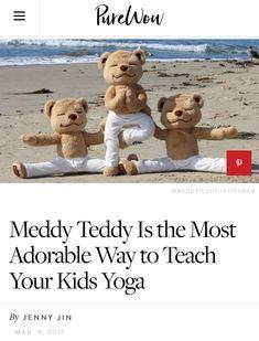 Teach kids yoga with Meddy Teddy