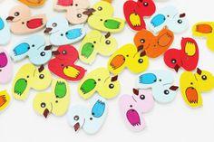 10 Duck Wooden Button Children Button Wood by boysenberryaccessory
