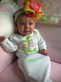 Personalized Infant Gown. $22.00, via Etsy.