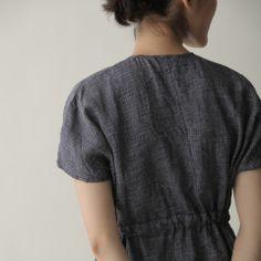 Lois Dress: Navy Plaid | Fog Linen