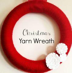 DIY Christmas yarn wreath