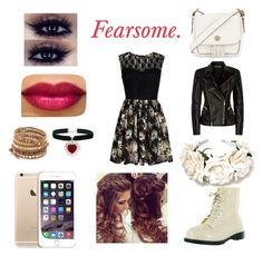 """Fearsome"" by stefany-bastidas ❤ liked on Polyvore featuring mode, Mela Loves London, Balmain, Chan Luu, Tory Burch et Wattpadnovela"