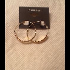 "Selling this ""Hoop Earring"" in my Poshmark closet! My username is: shissy. #shopmycloset #poshmark #fashion #shopping #style #forsale #EXPRESS #Jewelry"