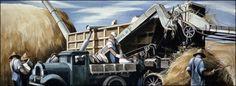 Edmund Lewandowski - Threshing Grain (1942) (WPA Mural)