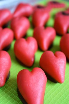 Marzipan-Puffed Hearts- wedding favors-Cameos-heart shaped marzipan-heart candies- consumable favors on Etsy, Marzipan, Be My Valentine, Valentine Gifts, Christmas Treats, Food Art, Heart Shapes, Wedding Favors, Stuffed Peppers, Design Interiores