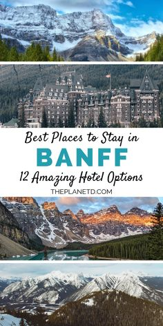 Best Places To Stay in Banff: 12 Amazing Hotel Options Banff National Park Lodging, National Parks, Jasper National Park, Places To Travel, Travel Destinations, Places To Visit, Canada Travel, Travel Usa, Canada Trip