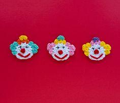 Ravelry: Clown Applique pattern by Carolina Guzman