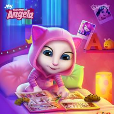 My latest app update has NEW stickers, because you, my #LittleKitties asked for it! xo, Talking Angela #TalkingAngela #MyTalkingAngela #LittleKitties #stickers #app #game #bestgame #collecting #onesie #cute #sweet