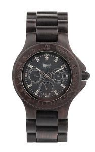 Wewood Wooden Watch Cygnus Black Wood Wrist Timepiece Unique   eBay