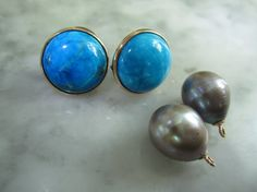TOM K Earrings Mix &Match Studs Pearl Hooks by TOMKJustbe on Etsy