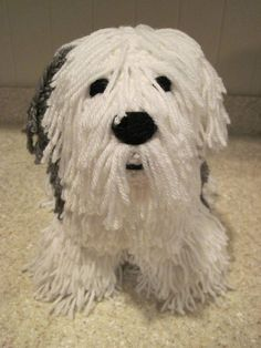 Crocheted Old English Sheepdog PDF Pattern