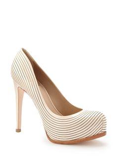 pinstriped heels