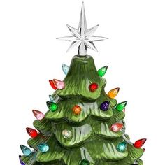 ad62dd10f4d Best Choice Products Pre-Lit Hand-Painted Ceramic Tabletop Artificial  Christmas Tree Decor w  50 Multicolored Lights