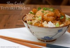 Slow Cooker Teriyaki Chicken. Simple & Delicious. Just 5 Ingredients. 240 Calories, 6 WWPP http://simple-nourished-living.com/2014/06/slow-cooker-teriyaki-chicken-pineapple/