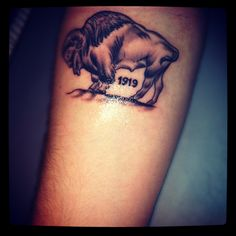 Buffalo tattoo... but without the number on it!
