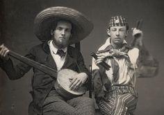 Minstrels banjo and bones