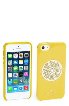 Yes! It's a sparkly lemon iPhone case | Kate Spade