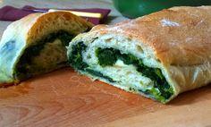 Rotolo+di+pizza+con+friarielli+e+formaggio,+ricetta Spanakopita, Breads, Sandwiches, Collage, Ethnic Recipes, Blog, Bread Rolls, Collages, Bread