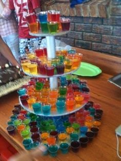 Colorful shots for the toast