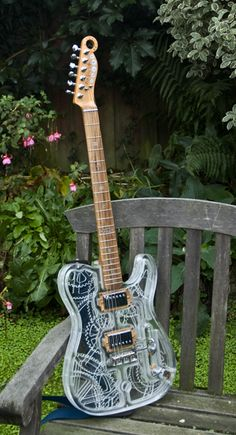 Homemade See-Through Steampunk Guitar