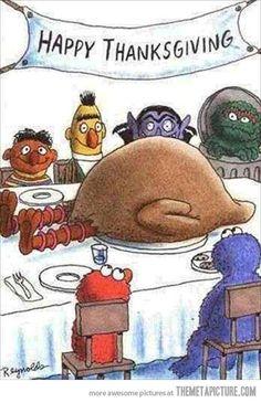 Thanksgiving dinner…Hilarious!  ....a-hem, I mean, how sad. ;)