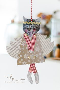 - I have to show my (B) little angels, which I lovingly pieced together last night – I should pass - Christmas Makes, Kids Christmas, Handmade Christmas, Magazine Deco, Diy And Crafts, Paper Crafts, Theme Noel, Diy Weihnachten, Christmas Activities