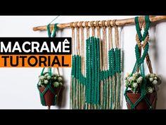 PAINEL EM MACRAMÊ CACTO 3 EM 1 | SUPORTE PARA VASO EM MACRAMÊ PASSO A PASSO |#macrame - YouTube Macrame Tutorial, Diy Tutorial, Macrame Knots, Plant Hanger, Fun Crafts, Weaving, 1, Youtube, Craft Ideas