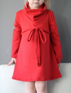 heidiandfinn cowl neck jumper dress pattern and tutorial #dress #pattern #girl