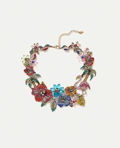 ZARA - WOMAN - LIMITED EDITION FLORAL NECKLACE