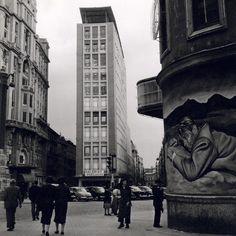 Imágenes del viejo Madrid. Plaza Callao,  Mayo de 1955. Cas Oorthuys. Museo de la Fotografía de los Países Bajos (Nederlands Fotomuseum) Rótterdam