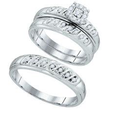 93867- 0.30CTW DIAMOND FASTION TRIO SET