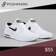 White Janoski shoes Wore these a few times, but they are not really my style. No trades, price is firm and pictures of the actual shoe will be posted upon request. Nike Shoes Athletic Shoes