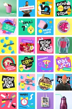 powerfood_casestudy_12-1-2000x3024 Food Graphic Design, Graphic Design Posters, Graphic Design Inspiration, Instagram Design, Print Layout, Social Media Design, Advertising Design, Design Reference, Banner Design