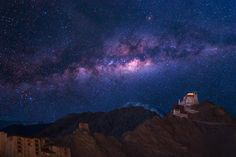 Surreal Milkyway over Namgyal Tsemo Monastery in Leh Ladakh, India by Panom Bounak on 500px