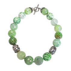 Green, green, green! #jewelry #necklace  I love my mother in law's jewelry!  She's so cool.