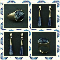 Acessórios com pedra Sodalita, disponível no site www.ckdsemijoias.com.br