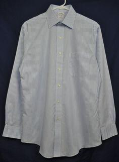Brooks Brothers Men's Long Sleeve Blue/White Striped Dress Shirt size 15-33 NWOT #BrooksBrothers