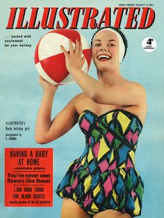 The vibrant cover of Illustrated magazine from August, 1957