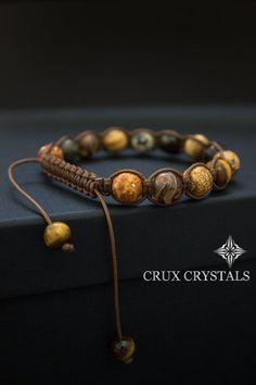 Regalo di Natale per lui bracciale di perline di di CruxCrystals