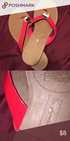 Causal red American Eagle sandals As displayed in the picture. No damages   Fast shipper: same or next day shipping guaranteed. Willing to do price adjustments! American Eagle Outfitters Shoes Sandals