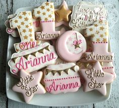 Twinkle Twinkle Little Star First Birthday Baby Shower Pink and Gold Cookies #babyshowerideas4u #birthdayparty #babyshowerdecorations #bridalshower #bridalshowerideas #babyshowergames #bridalshowergame #bridalshowerfavors #bridalshowercakes #babyshowerfavors #babyshowercakes