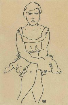 Egon Schiele (1890-1918) Sitzende Frau