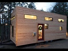Andrew and Gabriella Morrison recently completed the hOMe project, a 221 square feet tiny house on wheels. Although it's a tiny house, the Morrissons hOMe Tiny House Swoon, Modern Tiny House, Tiny House Living, Tiny House Design, Tiny House On Wheels, Small Living, Living Spaces, Living Room, Tiny House Movement
