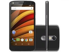 "Smartphone Motorola Moto X Force 64GB Preto - Dual Chip 4G Câm 21MP + Selfie 5MP Flash Tela 5.4"""